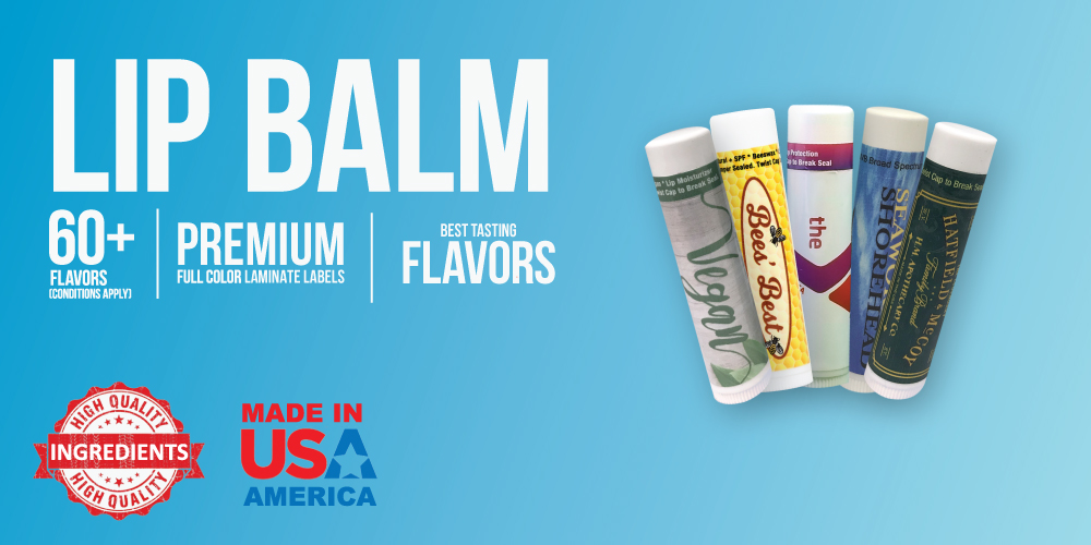 lip balm flavors YMlabs promo promotional chapstick
